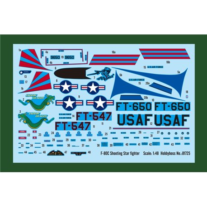 HOBBY BOSS 81725 1/48 F-80C Shooting Star fighter