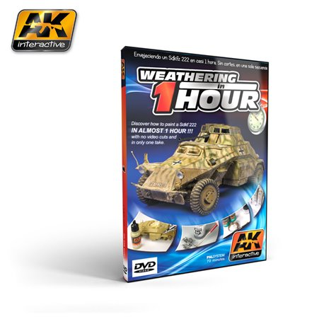 AK Interactive AK036 DVD WEATHERING IN ONE HOUR SD.KFZ 222 (PAL)