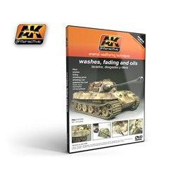 AK Interactive AK117 DVD Washes Fading and Oils MIG Jiminez PAL