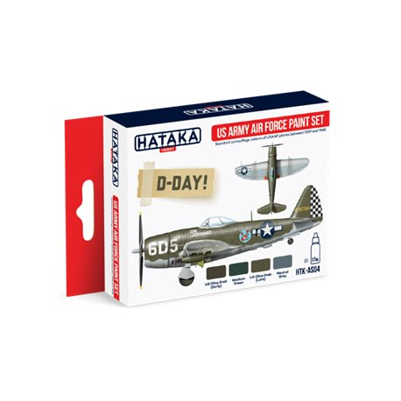 HATAKA HTK-AS04 Aviation Paint Set US Army Air Force paint set 4x17ml