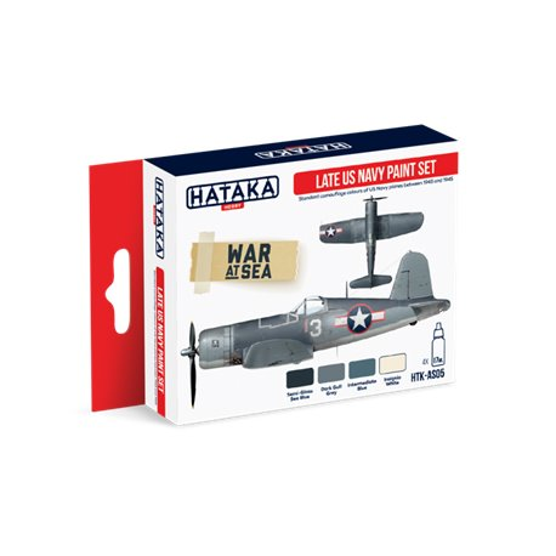 HATAKA HTK-AS05 Aviation Paint Set Late US Navy paint set 4x17ml