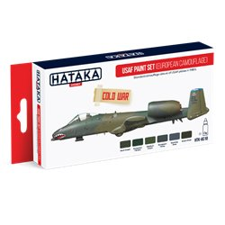 HATAKA HTK-AS10 Aviation Paint Set USAF Paint Set (European Camouflage) 6x17ml