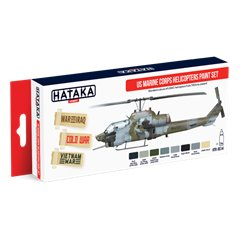 HATAKA HTK-AS14 Aviation Paint Set US Marine Corps Helicopters Paint Set 8x17ml