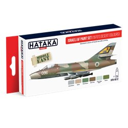 HATAKA HTK-AS12 Aviation Paint Set Israeli AF paint set (1970's desert colours) 6x17ml