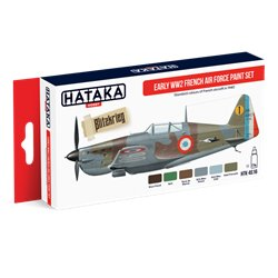 HATAKA HTK-AS16 Aviation Paint Set Early WW2 French Air Force paint set 6x17ml