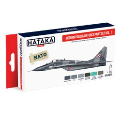HATAKA HTK-AS17 Aviation Paint Set Modern Polish Air Force paint set vol. 1 6x17ml