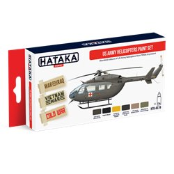 HATAKA HTK-AS19 Aviation Paint Set US Army Helicopters Paint Set 6x17ml
