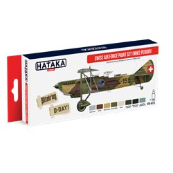 HATAKA HTK-AS15 Aviation Paint Set Swiss Air Force Paint Set (WW2 period) 8x17ml