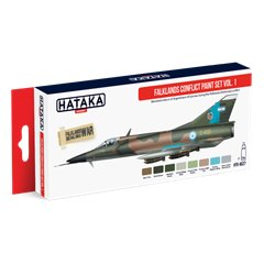 HATAKA HTK-AS27 Aviation Paint Set Falklands Conflict paint set vol. 1 8x17ml
