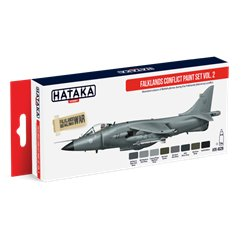 HATAKA HTK-AS28 Aviation Paint Set Falklands Conflict paint set vol. 2 8x17ml