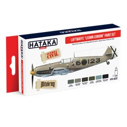 "HATAKA HTK-AS32 Aviation Paint Set Luftwaffe ""Legion Condor"" paint set 6x17ml"