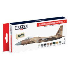 HATAKA HTK-AS29 Aviation Paint Set USAF Aggressor Squadron paint set vol. 1 8x17ml
