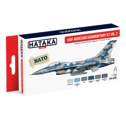 HATAKA HTK-AS30 Aviation Paint Set USAF Aggressor Squadron paint set vol. 2 6x17ml