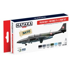 HATAKA HTK-AS46 Aviation Paint Set Polish Navy / Air Force TS-11 paint set 6x17ml