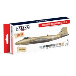 HATAKA HTK-AS73 Aviation Paint Set Modern Royal Air Force paint set vol. 2 8x17ml