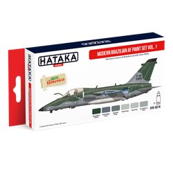 HATAKA HTK-AS74 Aviation Paint Set Modern Brazilian AF paint set vol. 1