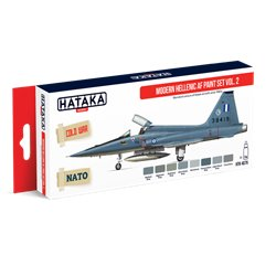 HATAKA HTK-AS75 Aviation Paint Set Modern Hellenic AF paint set vol. 2 8x17ml