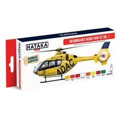 HATAKA HTK-AS76 Aviation Paint Set Air Ambulance (HEMS) paint set vol. 1