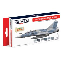 HATAKA HTK-AS78 Aviation Paint Set Modern Brazilian AF paint set vol. 2 6x17ml
