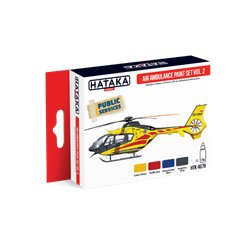 HATAKA HTK-AS79 Aviation Paint Set Air Ambulance (HEMS) paint set vol. 2 4x17ml