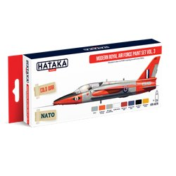 HATAKA HTK-AS70 Aviation Paint Set Modern Royal Air Force paint set vol. 3 8x17ml