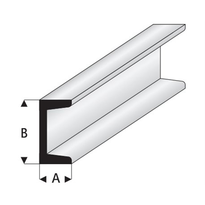 ALBION ALLOYS CC2 Laiton - Brass 'C' 1 x 2.5 x 1 mm (1p.)