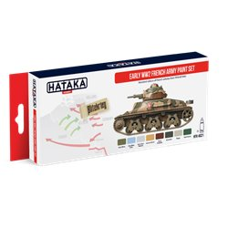 HATAKA HTK-AS21 AFV Paint Set Early WW2 French Army paint set 8x17ml