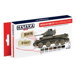 HATAKA HTK-AS22 British AFV paint set (WW2 European colours) 6x17ml