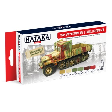 HATAKA HTK-AS36 1945 WW2 German AFV | panel lighting set 6x17ml