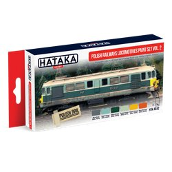 HATAKA HTK-AS42 Polish Railways locomotives paint set vol. 2 6x17ml