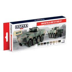 HATAKA HTK-AS72 Modern Polish Army AFV paint set 8x17ml