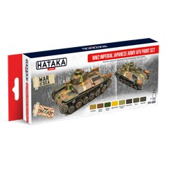 HATAKA HTK-AS69 Aviation Paint Set WW2 Imperial Japanese Army AFV paint set 8x17ml