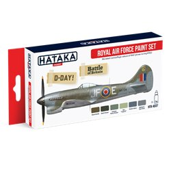 HATAKA HTK-AS07 Aviation Paint Set Royal Air Force paint set 6x17ml