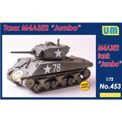 "UNIMODELS 453 1/72 M4A3E2 tank ""Jumbo"""