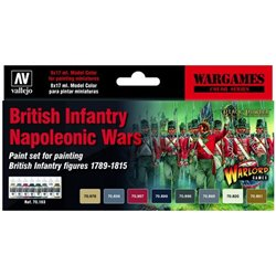 VALLEJO 70.163 British Infantry Napoleonic Wars Paint Set 6x17ml
