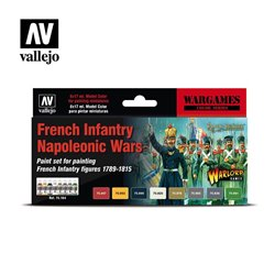 VALLEJO 70.164 French Infantry Napoleonic Wars Paint Set 6x17ml