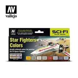 VALLEJO 71.612 Model Air Set Star Fighters Colors 8x17ml
