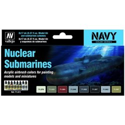VALLEJO 71.611 Model Air Set Nuclear Submarines 8x17mll