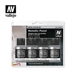 VALLEJO 77.601 Metallic Panel Metal Color Set 4x32ml