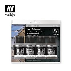 VALLEJO 77.602 Jet Exhaust Metal Color Set 4X32ML