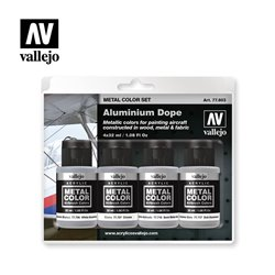 VALLEJO 77.603 Aluminium Dope Metal Color Set 4X32ml