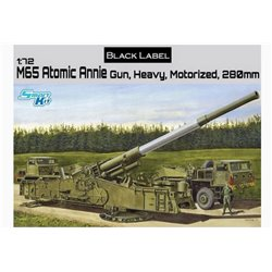 DRAGON 7484 1/72 M65 Atomic Annie Gun, Heavy, Motorized, 280mm Black Label