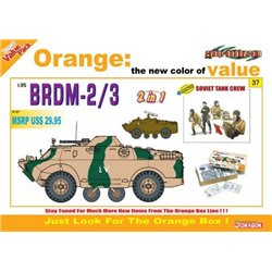 DRAGON 9137 1/35 Soviet BRDM 2/3 (2in1) with Soviet Tank Crew