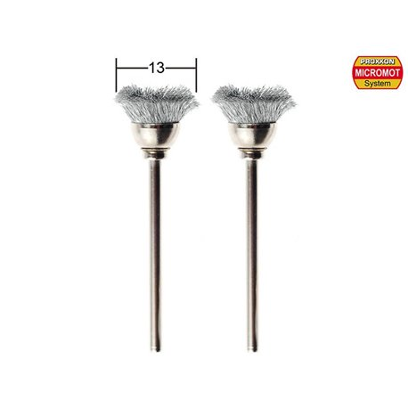 PROXXON 28957 Brosses en acier inoxydable - Brushes made of brushed stainless