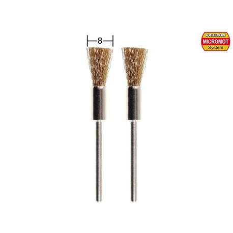 PROXXON 28961 Brosses en laiton de forme pinceau fin - Brushes made of fine brush