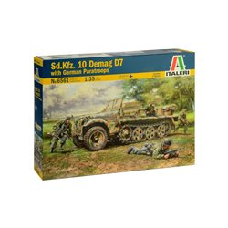 ITALERI 6561 1/35 Sd.Kfz. 10 DEMAG D7 with German Paratroops