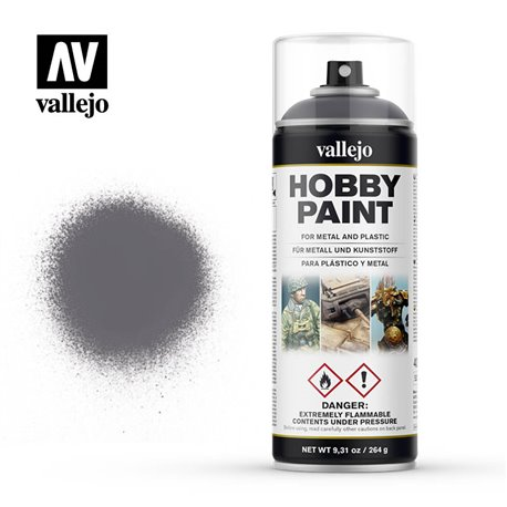 VALLEJO 28.031 Bombe - Spray Hobby Paint GUNMETAL 400ml
