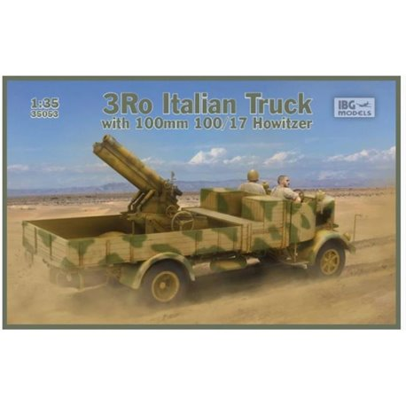 IBG Models 35053 1/35 3Ro Italian Truck with 100/17 100mm Howitzer