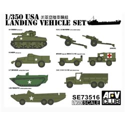 AFV CLUB SE73516 1/350 USA Landing Vehicle Set