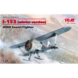 ICM 32011 1/32 I-153 winter version WWII Soviet Fighter